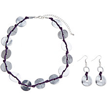 Buy John Lewis Disc Necklace And Drop Earrings Set, Silver Online at johnlewis.com