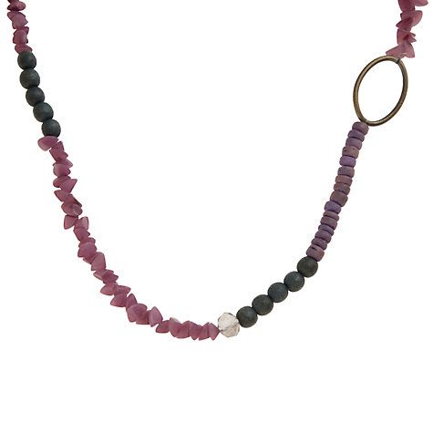 Buy John Lewis Mother Of Pearl Hoop Necklace, Purple Online at johnlewis.com