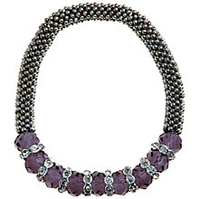 Buy John Lewis Purple Facet Glass Bracelet, Purple Online at johnlewis.com