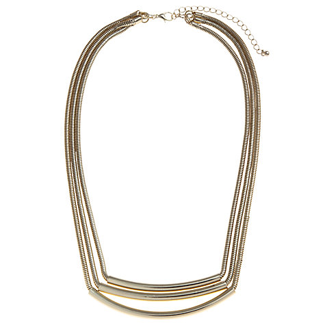 Buy John Lewis Triple Tube Chain Collar Necklace Online at johnlewis.com