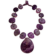 Buy Lola Rose Fossil Jasper Teardrop Pendant Necklace, Purple Online at johnlewis.com