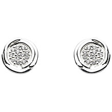 Buy Kit Heath Sterling Silver Cocoon Cubic Zirconia Stud Earrings Online at johnlewis.com