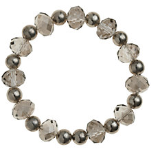 Buy John Lewis Crystal Sparkle Ball Bracelet, Grey Online at johnlewis.com