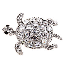 Buy John Lewis Tortoise Diamante Detail Brooch, Rhodium Online at johnlewis.com