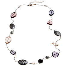 Buy John Lewis Assorted Bead Long Chain Necklace, Purple Online at johnlewis.com