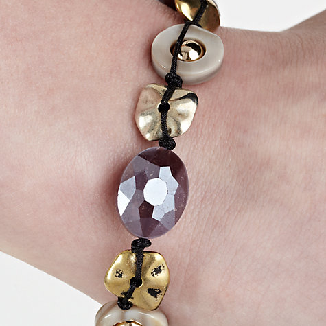 Buy John Lewis Facet Bead Assorted Bracelet, Purple Online at johnlewis.com
