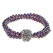 Buy John Lewis Double Row Sparkle Ball Bracelet, Purple Online at johnlewis.com