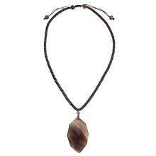 Buy Lola Rose Ember Faceted Drop Pendant Online at johnlewis.com