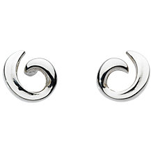 Buy Kit Heath Sterling Silver Feather Claw Stud Earrings Online at johnlewis.com