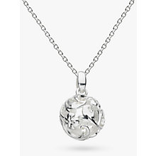Buy Kit Heath Sterling Silver Carved Ball Pendant Online at johnlewis.com