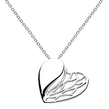 Buy Kit Heath Sterling Silver Closed Vine Heart Pendant Online at johnlewis.com