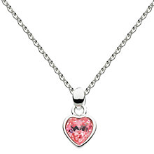 Buy Kit Heath Kids Sterling Swarovski Crystal Heart Pendant, Pink Online at johnlewis.com