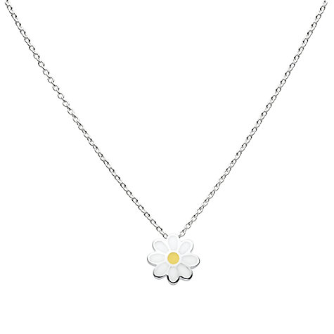 Buy Kit Heath Kids Sterling Silver Daisy Flower Pendant, Silver / Gold Online at johnlewis.com