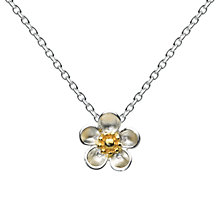 Buy Kit Heath Budding Blossom Sterling Silver Pendant, Silver / Gold Online at johnlewis.com