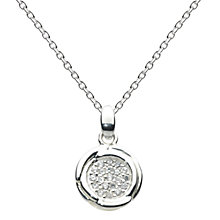 Buy Kit Heath Sterling Silver Cocoon Cubic Zirconia Pave Pendant Online at johnlewis.com