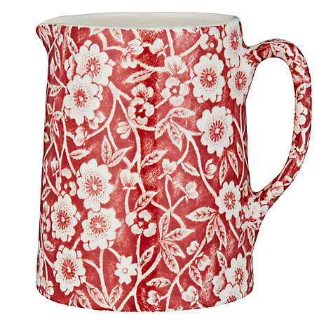 Buy Burleigh Calico Jug, 0.16L, Red Online at johnlewis.com