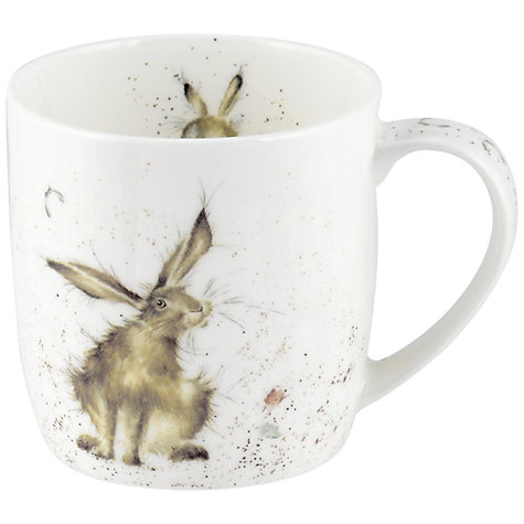 Buy Royal Worcester Wrendale Good Hare Day Mug Online at johnlewis.com