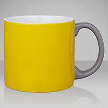 Buy Jansen+co Mug, Yellow/ Grey Online at johnlewis.com