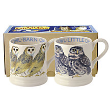 Buy Emma Bridgewater Barn Owl Mugs, Set of 2, Multi Online at johnlewis.com