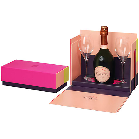 Buy Laurent-Perrier Cuvée Rosé and Glasses Set, 75cl Online at johnlewis.com