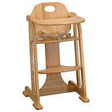 Buy East Coast Multi Height Highchair, Natural Online at johnlewis.com