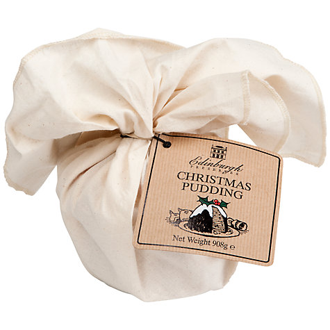 Buy Edinburgh Preserves Muslin Wrapped Christmas Pudding, 908g Online at johnlewis.com