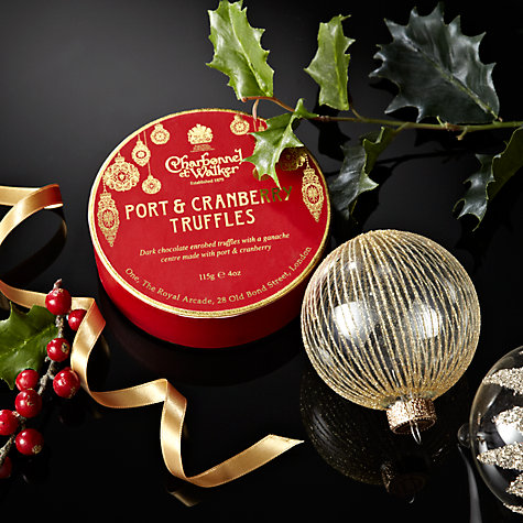 Buy Charbonnel et Walker Port & Cranberry Christmas Truffles, 115g Online at johnlewis.com