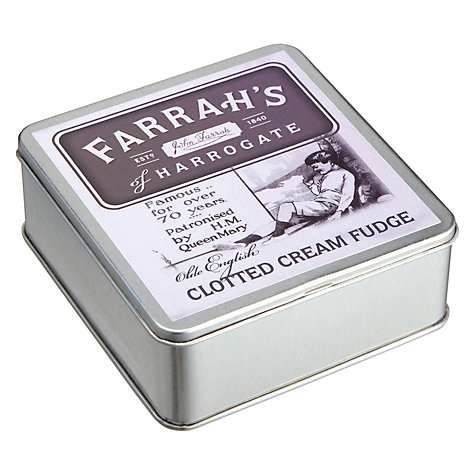 Buy Farrah's Clotted Cream Fudge Tin, 100g Online at johnlewis.com
