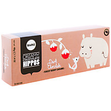 Buy BARU Dark Chocolate Forest Berry Hippos, Pack of 3 Online at johnlewis.com