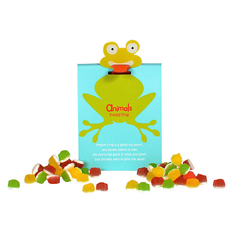 Buy Animals Freddy Frog Jelly Sweets Pouch, 100g Online at johnlewis.com