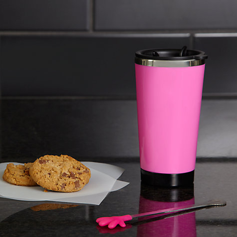 Buy Hugs Pink Travel Mug and Hot Chocolate Set, 2 sachets, 40g Online at johnlewis.com