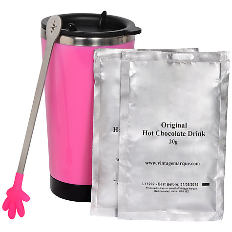 Buy Hugs Pink Travel Mug and Hot Chocolate Set Online at johnlewis.com