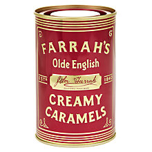 Buy Farrah's Olde English Creamy Caramel Tin, 200g Online at johnlewis.com