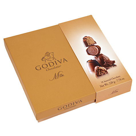 Buy Godiva Connoisseur Milk Chocolate Selection, 220g Online at johnlewis.com