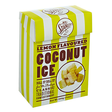 Buy Mr Stanley's Lemon Coconut Ice, 200g Online at johnlewis.com