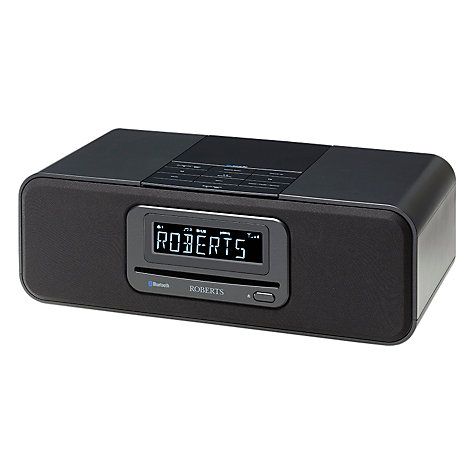 Buy ROBERTS Blutune 60 Bluetooth DAB/DAB+/FM/CD Digital Clock Radio, Black Online at johnlewis.com