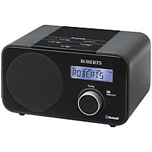 Buy ROBERTS Blutune 40 Bluetooth DAB/DAB+FM Digital Radio, Black Online at johnlewis.com
