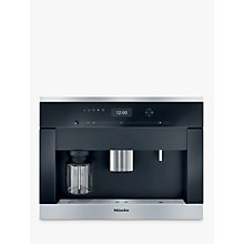 Buy Miele CVA 6401 Built-in Bean-to-Cup Coffee Machine, Clean Steel Online at johnlewis.com