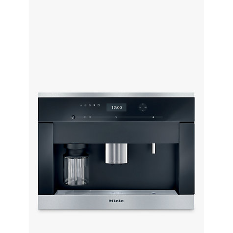 buy miele cva 6401 built in bean to cup coffee machine clean steel john lewis. Black Bedroom Furniture Sets. Home Design Ideas