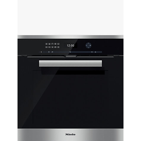 buy miele h6461bp pureline single electric oven clean. Black Bedroom Furniture Sets. Home Design Ideas