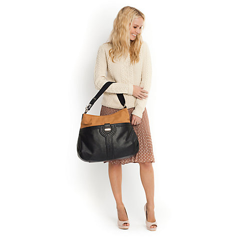 Buy Storksak Nina Bag, Black/Tan Online at johnlewis.com