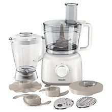 Buy Philips HR7628/01 Daily Collection Food Processor, White Online at johnlewis.com