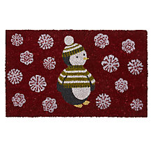Buy John Lewis Penguin Christmas Coir Doormat Online at johnlewis.com