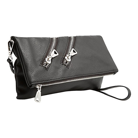 Buy Mango Zip Clutch Handbag, Black Online at johnlewis.com