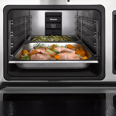 miele dg6200 contourline single electric steam oven clean steel ebay. Black Bedroom Furniture Sets. Home Design Ideas