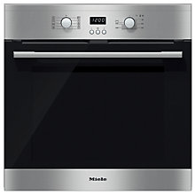 Buy Miele H2361BP ContourLine Single Electric Oven, Clean Steel Online at johnlewis.com