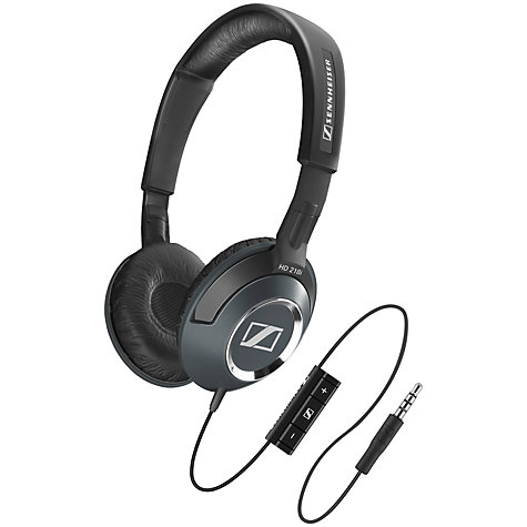 Buy Sennheiser HD 218i On-Ear Headphones, Black Online at johnlewis.com