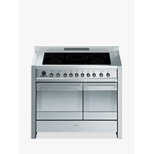 Buy Smeg A2PYID-8 Induction Hob Range Cooker, Stainless Steel Online at johnlewis.com