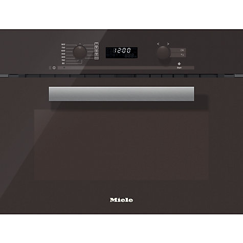 Buy Miele M6262TC PureLine Built-in Microwave with Grill, Clean Steel Online at johnlewis.com