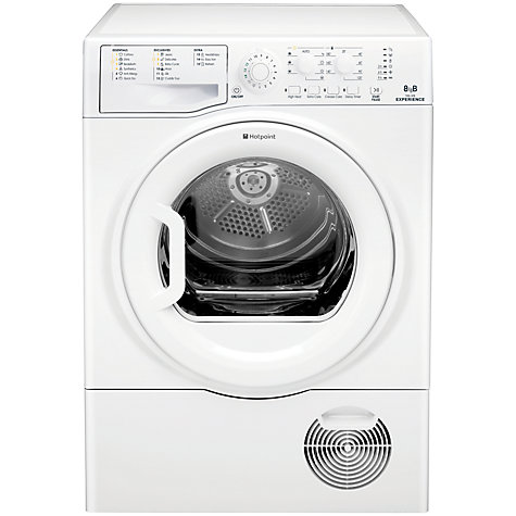 Buy Hotpoint Experience TCEL87B6P Condenser Tumble Dryer, 8kg Load, B Energy Rating, White Online at johnlewis.com